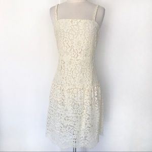 Lovers + Friends Lace Strappy Dress Size S Ivory